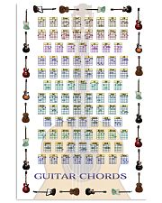 GUITAR CHORDS 11x17 Poster front