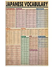 Japanese Vocabulary 11x17 Poster front