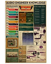 AUDIO ENGINEER 11x17 Poster front
