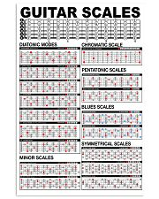 GUITAR SCALES 11x17 Poster front