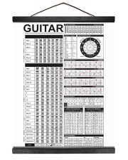 Guitar 16x20 Black Hanging Canvas thumbnail