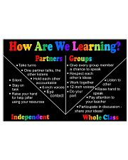 LEARNING 17x11 Poster front