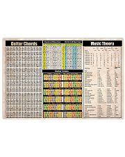 GUITAR CHORDS Horizontal Poster tile