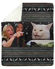 "Smudge the Cat Sherpa Fleece Blanket - 50"" x 60"" thumbnail"