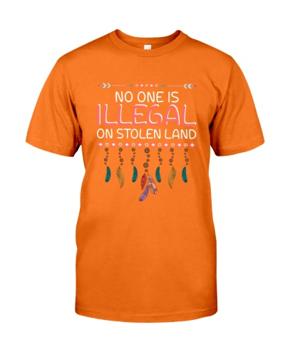 No One Is Illegal On Stolen Land - American Flag