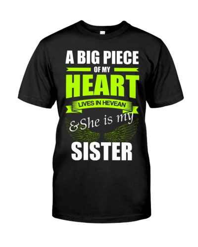 A big piece of my heart lives in heaven - Sister