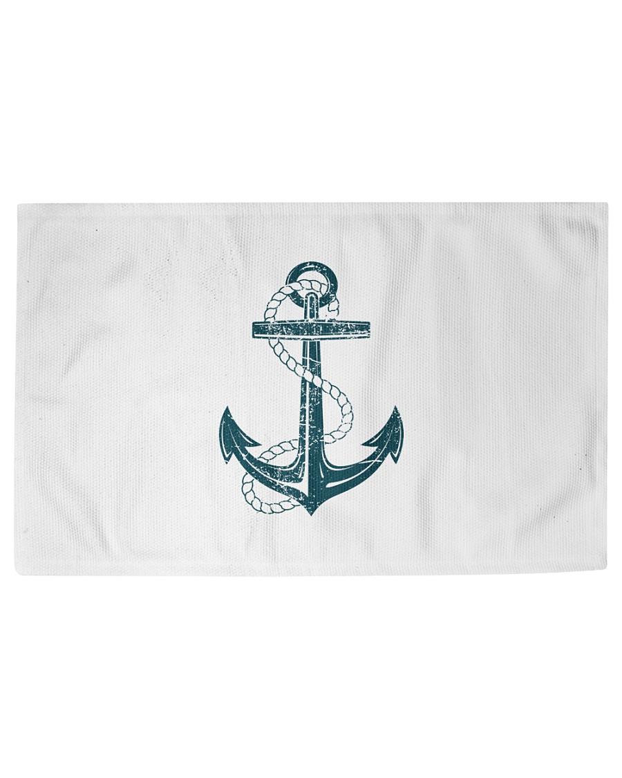 The Sailor Anchor Woven Rug - 6' x 4'