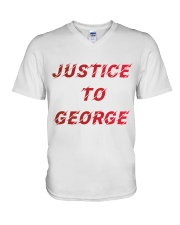 Justice for George Tshirt V-Neck T-Shirt thumbnail
