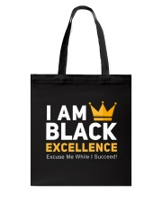 I AM Black Excellence Accessories Tote Bag front
