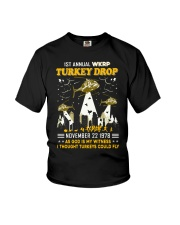 1St annual WKRP Turkey Drop November 22 1978 Youth T-Shirt tile