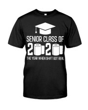 Senior Class of 2020 Toilet Paper T-shirt Classic T-Shirt front
