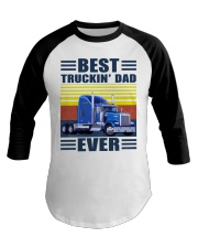 Best truckin dad ever vintage father's day shirt Baseball Tee thumbnail