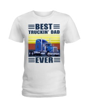 Best truckin dad ever vintage father's day shirt Ladies T-Shirt thumbnail