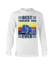 Best truckin dad ever vintage father's day shirt Long Sleeve Tee thumbnail