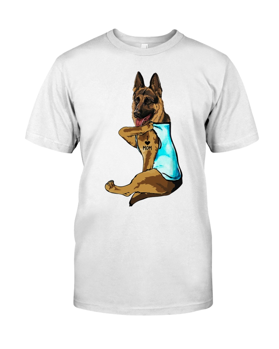 German Shepherd I love mom Tattoo shirt Classic T-Shirt