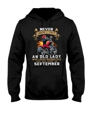 Old Lady loves motorcycle Was born in September Hooded Sweatshirt thumbnail