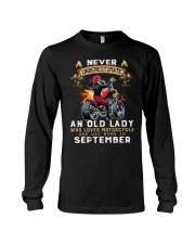Old Lady loves motorcycle Was born in September Long Sleeve Tee thumbnail