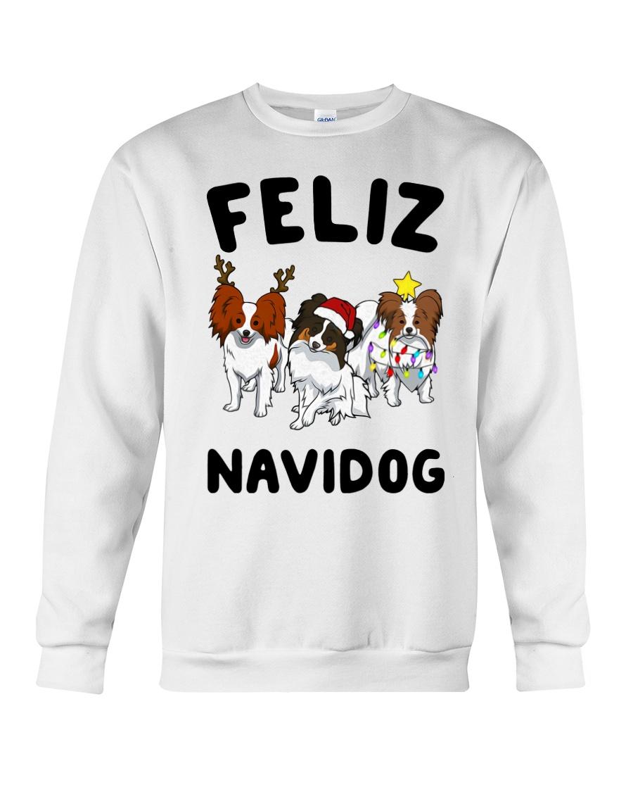 Feliz Navidog Papillon Christmas SHIRT Crewneck Sweatshirt
