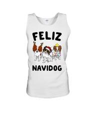 Feliz Navidog Papillon Christmas SHIRT Unisex Tank thumbnail
