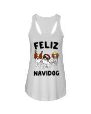 Feliz Navidog Papillon Christmas SHIRT Ladies Flowy Tank thumbnail