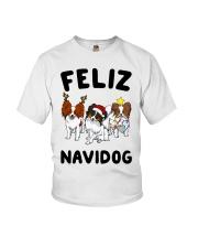 Feliz Navidog Papillon Christmas SHIRT Youth T-Shirt thumbnail
