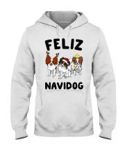 Feliz Navidog Papillon Christmas SHIRT Hooded Sweatshirt thumbnail