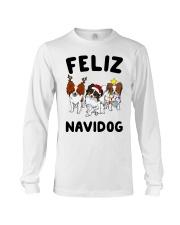 Feliz Navidog Papillon Christmas SHIRT Long Sleeve Tee thumbnail
