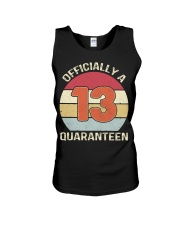 Officially a 13 quaranteen vintage T-shirt Unisex Tank thumbnail