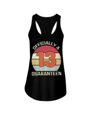 Officially a 13 quaranteen vintage T-shirt Ladies Flowy Tank thumbnail