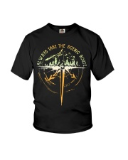 Bigfoot always take the scenic route shirt Youth T-Shirt thumbnail
