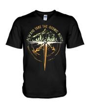 Bigfoot always take the scenic route shirt V-Neck T-Shirt thumbnail