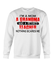 I'm a Mom a Grandma and a retired teacher Crewneck Sweatshirt tile
