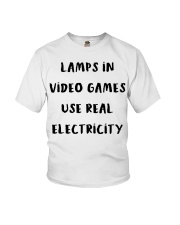 Lamps in video games use real electricity shirt Youth T-Shirt thumbnail