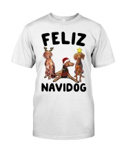 Feliz Navidog Vizsla Christmas Classic T-Shirt thumbnail