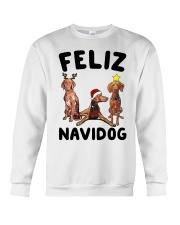 Feliz Navidog Vizsla Christmas Crewneck Sweatshirt front