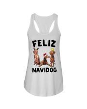 Feliz Navidog Vizsla Christmas Ladies Flowy Tank thumbnail