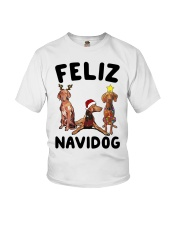 Feliz Navidog Vizsla Christmas Youth T-Shirt thumbnail