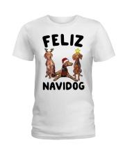 Feliz Navidog Vizsla Christmas Ladies T-Shirt thumbnail