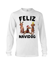 Feliz Navidog Vizsla Christmas Long Sleeve Tee thumbnail