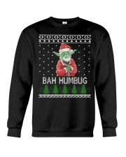 Yoda BAH Humbug Ugly Xmas shirt Crewneck Sweatshirt front