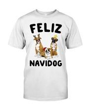 Feliz Navidog Boxer Christmas Classic T-Shirt thumbnail