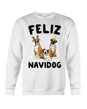 Feliz Navidog Boxer Christmas Crewneck Sweatshirt front