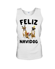 Feliz Navidog Boxer Christmas Unisex Tank thumbnail