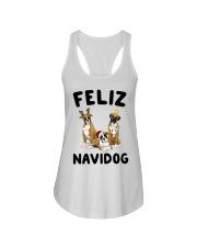 Feliz Navidog Boxer Christmas Ladies Flowy Tank thumbnail