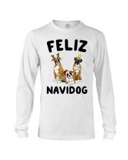 Feliz Navidog Boxer Christmas Long Sleeve Tee thumbnail