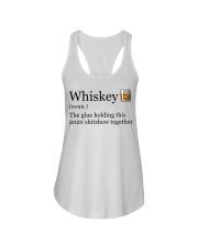 Whiskey The Glue Holding This 2020 Shitshow  Ladies Flowy Tank thumbnail