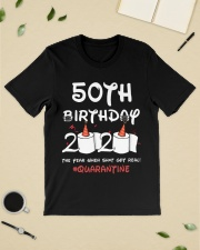 50th birthday 2020 the year when shit got real  Classic T-Shirt lifestyle-mens-crewneck-front-19