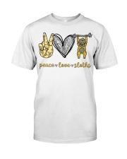 Peace love sloths shirt Classic T-Shirt front