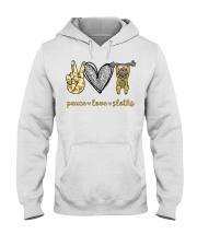 Peace love sloths shirt Hooded Sweatshirt thumbnail