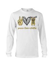 Peace love sloths shirt Long Sleeve Tee thumbnail